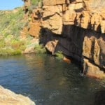 Maalgat is a huge natural swimming pool on Dwarsrivier farm