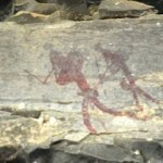 San painting in Montusi Cave, Drakensberg hike