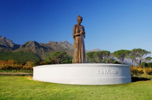 Franschhoek Valley is home of prominent wine estates in South Africa