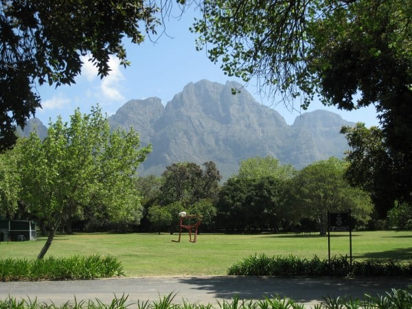 Cape Winelands scenery on cycling tour