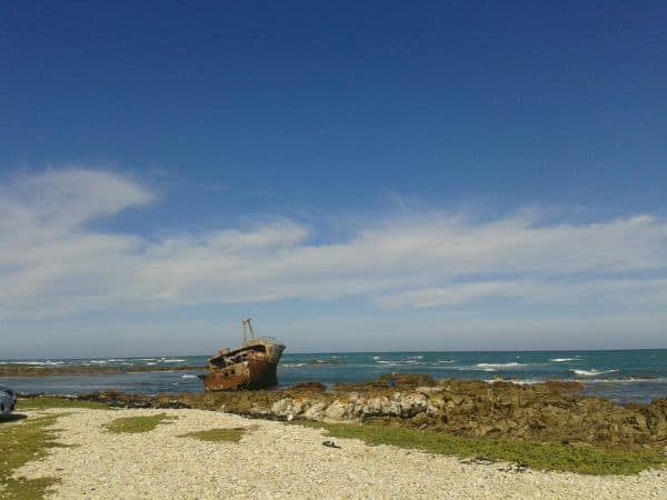 A shipwreck on Southernmost cycling and Shipwreck cycling tour