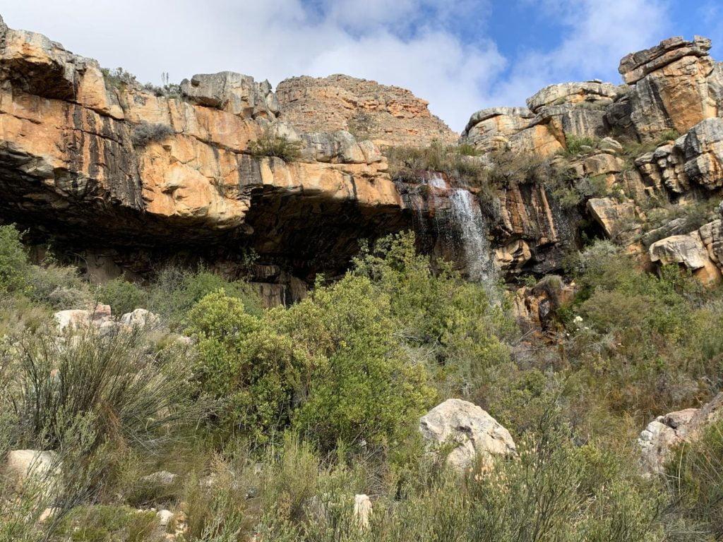 Kromrivier waterfall and cave, Cederberg