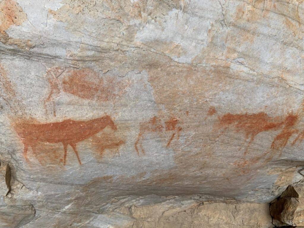 San paintings, Truitjieskraal, Cederberg
