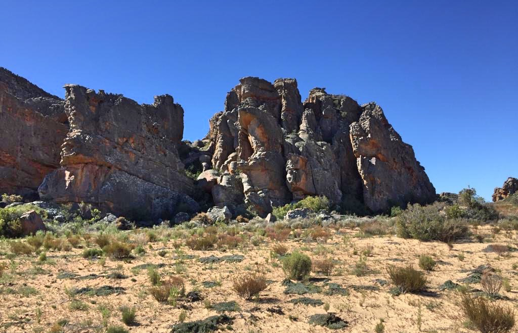 Rocks on Community hike in the Cederberg