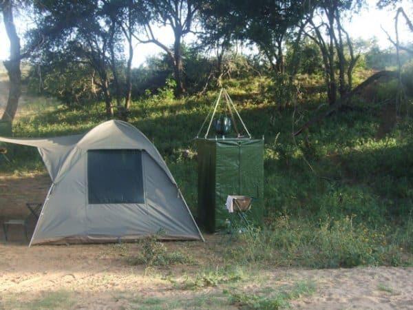 Camp in Kruger wilderness